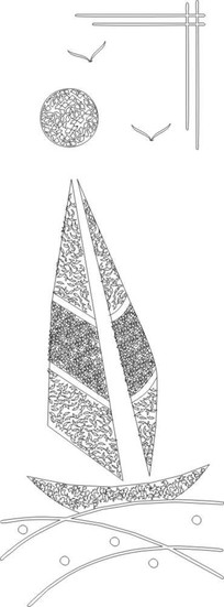 花叶花纹雕刻图案