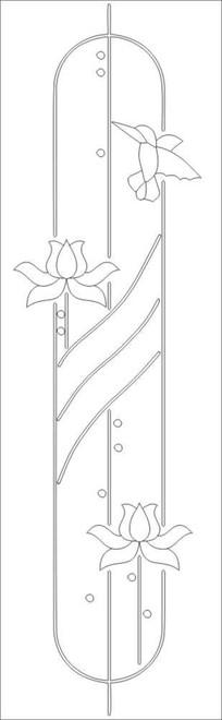 莲花花卉雕刻图案