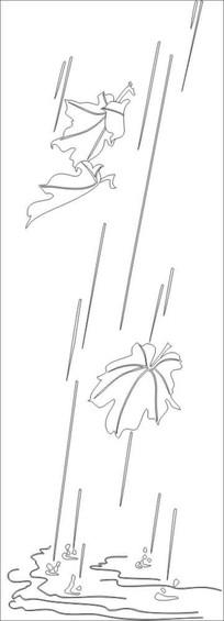 落叶雕刻图案 CDR