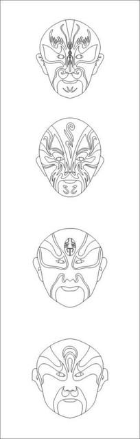 面具雕刻图案