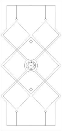 网格圆环雕刻图案