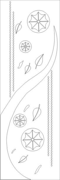 叶子叶脉雕刻图案 CDR