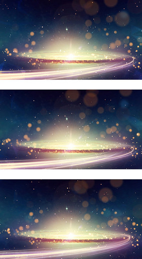 震撼科技太空星云银河系视频