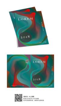 时尚抽象画册封面设计