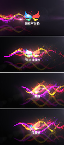 绚丽粒子logo展示ae模板