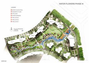 园林景观规划彩色平面图