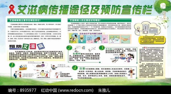 艾滋病传播途径及预防宣传栏图片