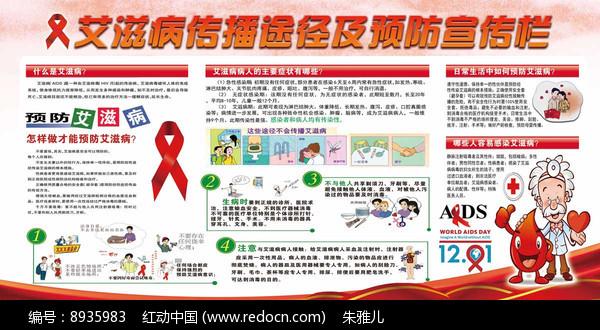 艾滋病健康宣传展板图片