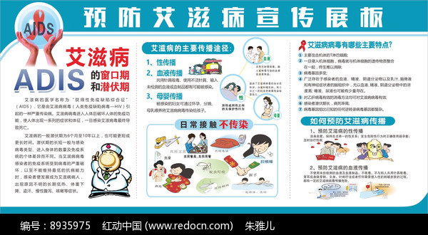 艾滋病宣传展板图片
