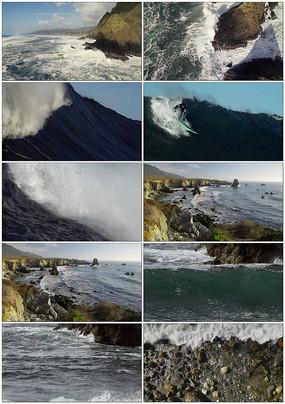 大海海洋海水海浪视频素材