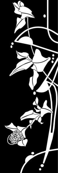 花蕊抽象花雕刻图案