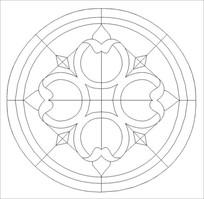 教堂花纹雕刻图案