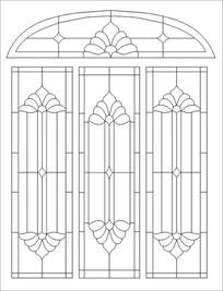 教堂花纹图雕刻图案