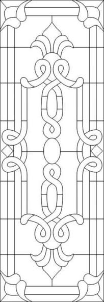 教堂立线花纹雕刻图案