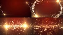 金色光效粒子视频