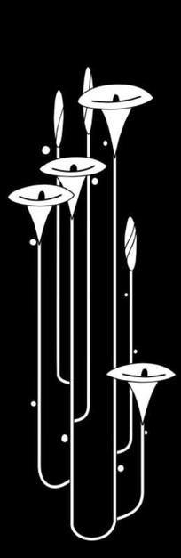 喇叭花马蹄莲雕刻图案