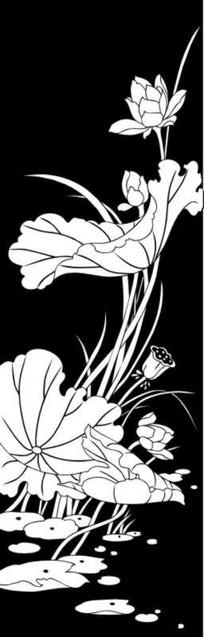 莲花之秀雕刻图案