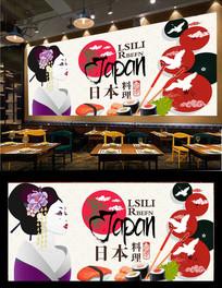 料理寿司美食背景墙