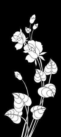 玫瑰花蕾雕刻图案