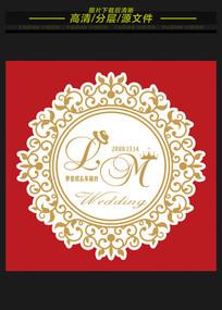 欧式婚礼logo矢量