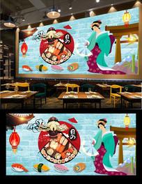 寿司料理背景墙