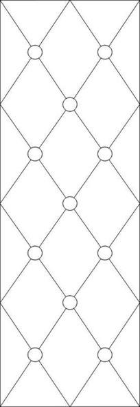 网格圆圈雕刻图案