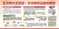 预防远离艾滋宣传展板