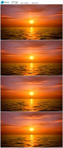 海山日落背景视频 mov