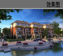 河南省鹤壁市某住宅小区效果图 JPG