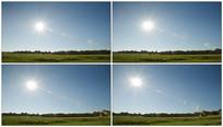 蓝天太阳高照视频