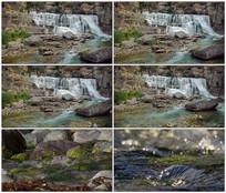 清澈河流河水流趟视频