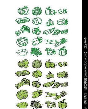 蔬菜矢量手绘大全素材
