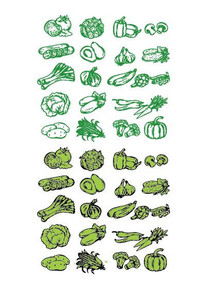 蔬菜矢量手绘大全素材 AI