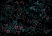 围巾刺绣印花图案