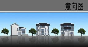 乡村建筑立面改造图