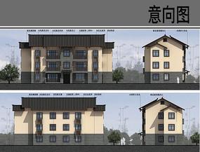 乡村建筑设计方案立面