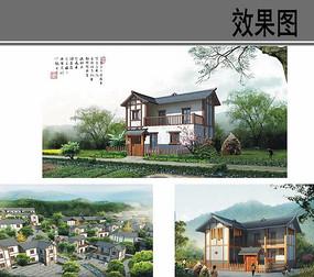 乡村农家住宅设计效果图
