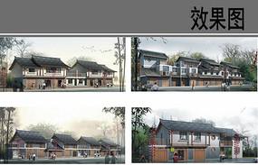 乡村商业街建筑设计效果图