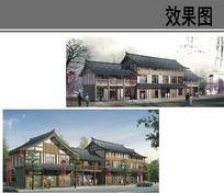 乡村商业街中式建筑效果图 JPG