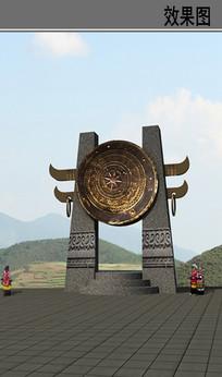 乡村太阴历铜鼓效果图