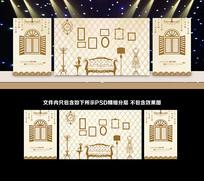 香槟色米色婚礼背景板