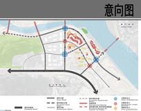 自贸区商业综合体景观分析图