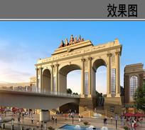 滨江凯旋门建筑效果图