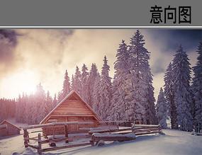 大坡顶木屋