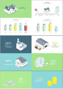 地产建筑类数据图表AE模板
