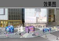 第一城北商业西侧主入口广场