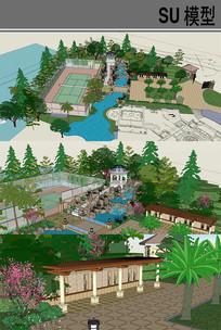 公园景观一角模型
