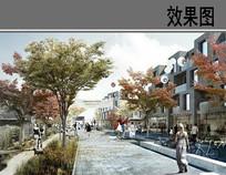 国外水彩风商业街效果图 JPG