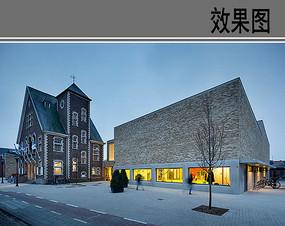 国外幼儿园建筑外观效果图