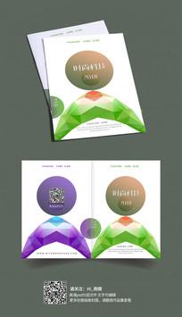 几何渐变色书籍画册封面设计